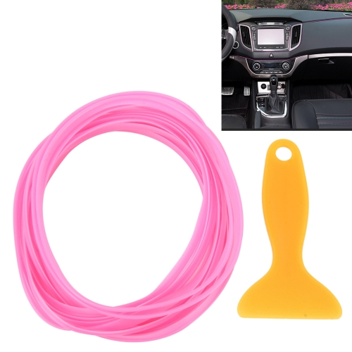 Buy 5m Flexible Trim For DIY Automobile Car Interior Moulding Trim Decorative Line Strip with Film Scraper, Pink for $1.61 in SUNSKY store