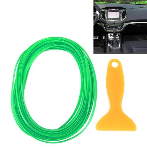 Buy 5m Flexible Trim For DIY Automobile Car Interior Moulding Trim Decorative Line Strip with Film Scraper, Green for $1.61 in SUNSKY store