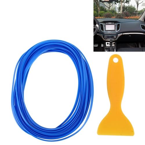 Buy 5m Flexible Trim For DIY Automobile Car Interior Moulding Trim Decorative Line Strip with Film Scraper, Blue for $1.61 in SUNSKY store