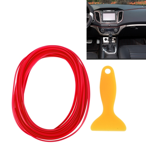 Buy 5m Flexible Trim For DIY Automobile Car Interior Moulding Trim Decorative Line Strip with Film Scraper, Red for $1.61 in SUNSKY store