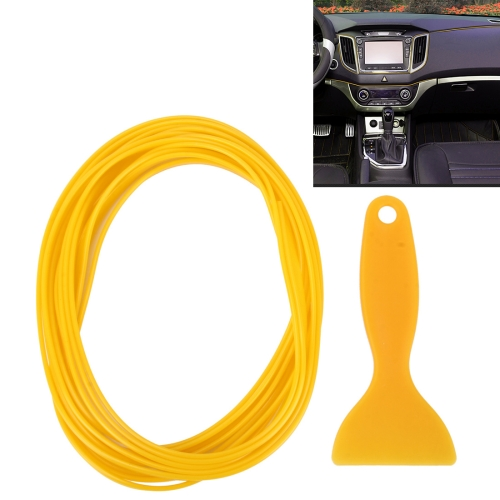 Buy 5m Flexible Trim For DIY Automobile Car Interior Moulding Trim Decorative Line Strip with Film Scraper, Yellow for $1.61 in SUNSKY store