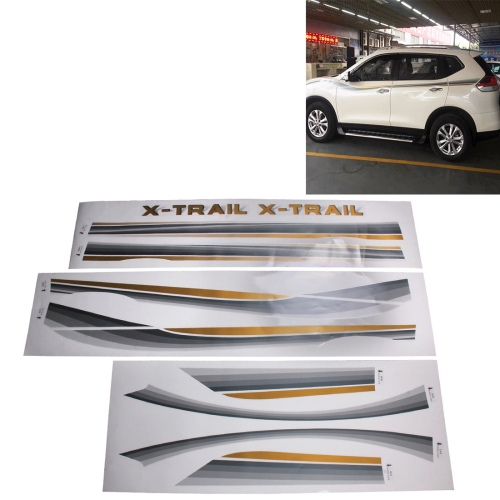 Buy 3 PCS SUV Body Decorative Strip Brand Car Streamline Shining Sticker For Honda CRV Nissarl X-Trail/Qashqai/Murano series for $31.69 in SUNSKY store