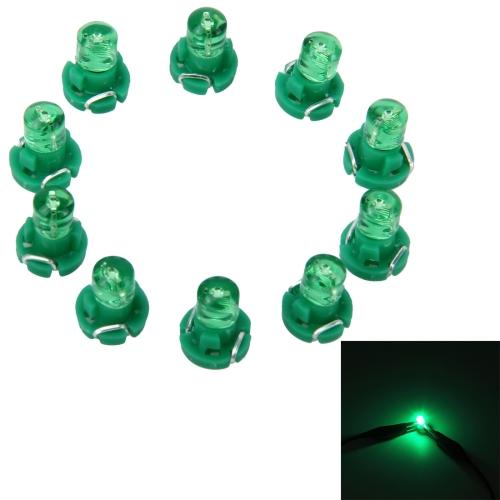10PCS 2W T3 Wedge Instrument Panel LED Light Dashboard Gauge Cluster Indicator Lamp Bulb(Green Light) фото