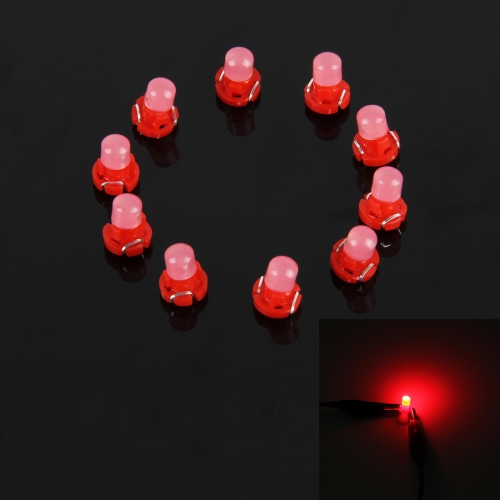 Buy 10PCS 2W T3 Wedge Instrument Panel LED Light Dashboard Gauge Cluster Indicator Lamp Bulb (Red Light) for $2.55 in SUNSKY store