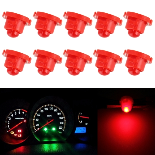 Buy 10PCS 2W T4.7 Wedge Instrument Panel LED Light Dashboard Gauge Cluster Indicator Lamp Bulb (Red Light) for $2.52 in SUNSKY store