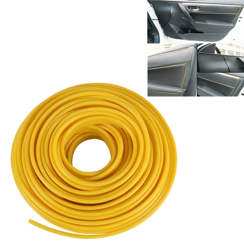 Buy 5m Flexible Trim For DIY Automobile Car Interior Moulding Trim Decorative Line Strip, Yellow for $2.67 in SUNSKY store