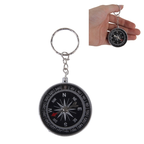 Buy Portable Survival Compass with Keychain Key Ring for Hiking and Camping for $1.48 in SUNSKY store