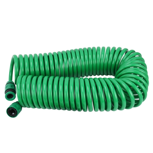 Garden Watering Series Spring Tube Hose Telescopic Spiral Pipe with Water Connector Adaptor and Connector, Length: 15m