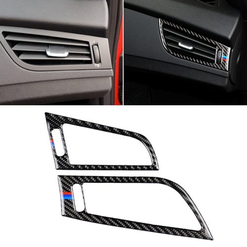 Car Carbon Fiber Side Air Outlet Panel Three Color Decorative Sticker for BMW Z4 2009-2015