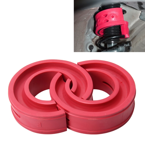 2 PCS Car Auto A+ Type Shock Absorber Spring Bumper Power Cushion Buffer, Spring Spacing: 60mm, Colloid Height: 90mm(Red) shock absorber ac1425 absorber buffer bumper free shipping