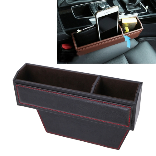 Buy 2 PCS Car Seat Crevice Storage Box with Interval Cup Drink Holder Organizer Auto Gap Pocket Stowing Tidying for Phone Pad Card Coin Case Accessories, Black for $13.03 in SUNSKY store