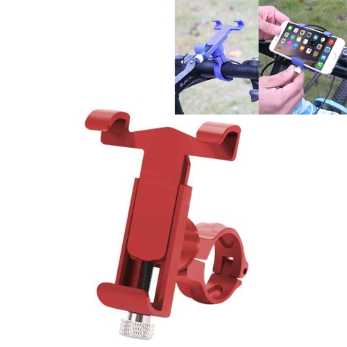 360 Degree Rotatable Aluminum Alloy Phone Bracket for Bicycle, Suitable for 50-100mm Device(Red)