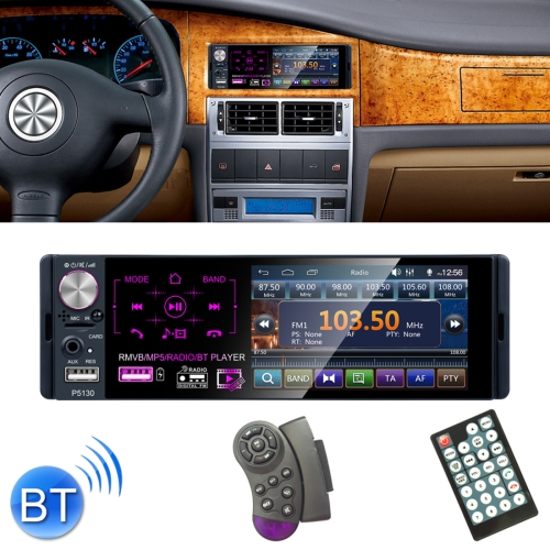 HD Rear View Camera LSLYA Car Radio Bluetooth Hands-Free 4.1 inch Capacitive Touch Screen 1 DIN MP5 Player Support FM//AUX Input//TF Card//USB//Steering Wheel Remote Control