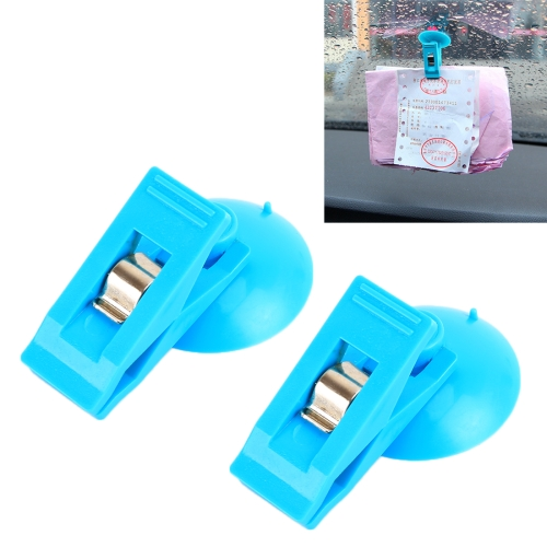2 PCS Car Windshield Multi-functional Suction Cup Clip, Random Color Delivery