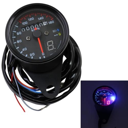 3 in 1 Universal Waterproof Motorcycle LED Backlight Odometer Speedometer Gearmeter, DC 12V
