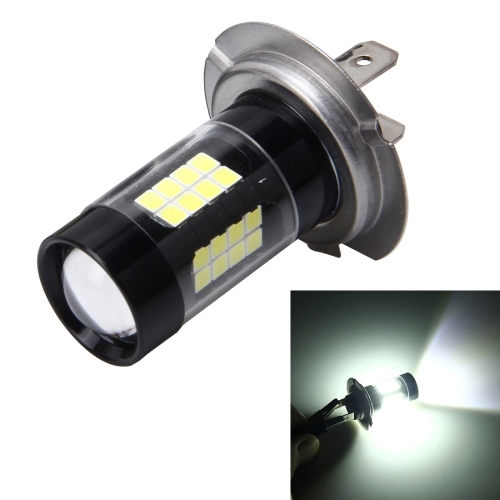 Buy H7 7W 420LM 6000K Car Fog Lights with 43 SMD-3528 LED Lamps, DC 12V (White Light) for $6.60 in SUNSKY store