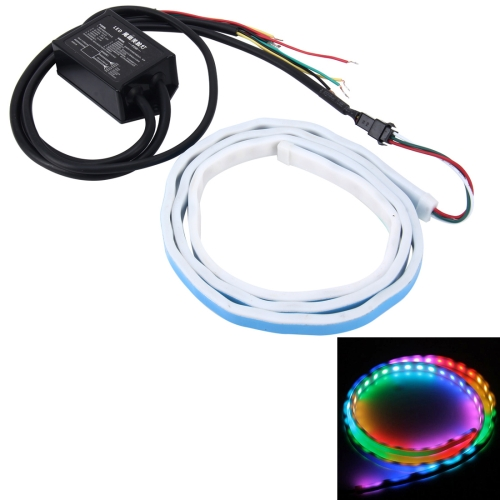Buy 1.2m Car Auto Waterproof Universal Rear Colorful Flowing Light Tail Box Lights Red Light Brake Light Yellow Light Turn Signal Light LED Lamp Strip Tail Decoration, DC 9-30V for $11.30 in SUNSKY store