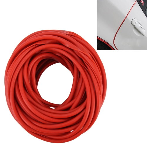 Buy 5m Car Decorative Strip PVC Chrome Decoration Strip Door Seal Window Seal, Red for $2.03 in SUNSKY store