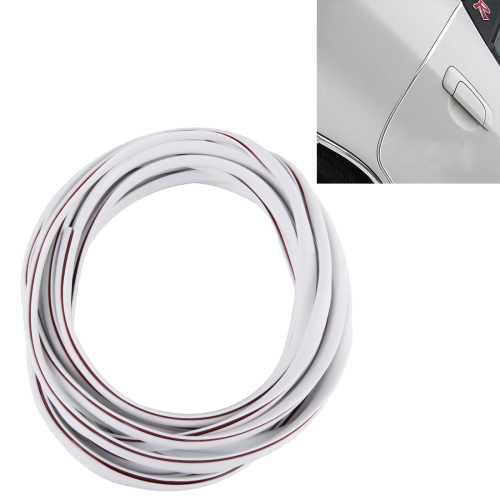 Buy 5m Car Decorative Strip PVC Chrome Decoration Strip Door Seal Window Seal, White for $2.09 in SUNSKY store