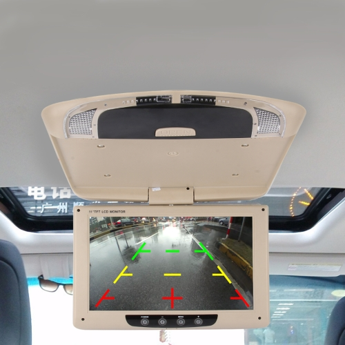 Buy Car Auto Roof 11 inch 800*480 Rear View PAL/NTSC Color Car Monitor Surveillance Cameras Monitor, Support Reverse Automatic Screen Function for $72.60 in SUNSKY store
