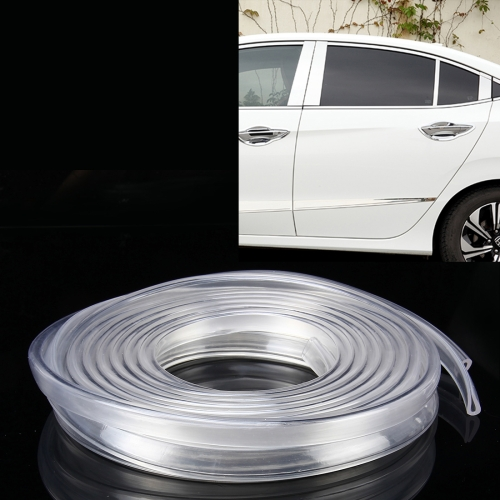Buy 5.6m Car Decorative Strip Rubber Chrome Decoration Strip Door Seal Window Seal, Transparent for $2.93 in SUNSKY store