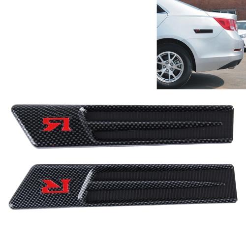 2 Pcs Car Auto SUV Self Adhesive Side Vent Air Flow Fender Intake Stickers Black