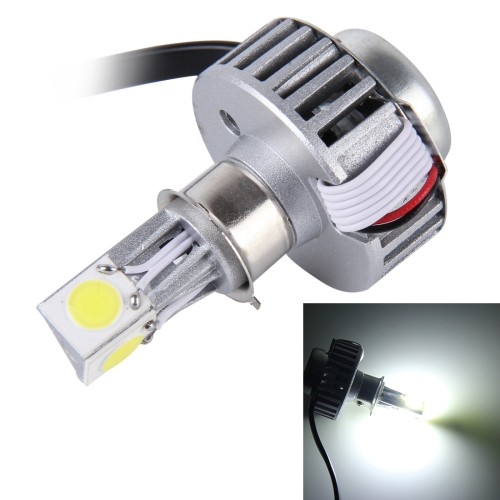 25W 2500 LM 6000K Motorcycle Headlight with 3 LED Lamps, DC 6-36V (White Light)