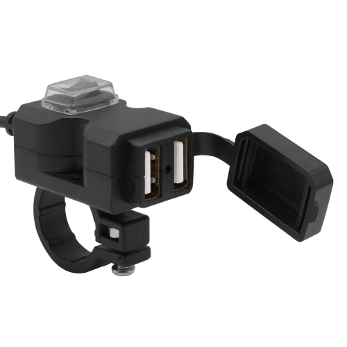 Motorcycle Waterproof 3.1A Dual USB Fast Charger Adapter with Switch