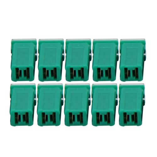 10 PCS Vehicle Car Plastic Shell Straight Female Terminal Push in Blade Cartridge PAL Fuse 40Amp 32V