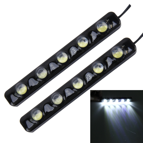 Buy 2 PCS 5W 150 LM 6000K DRL Daytime Running Light with 5 SMD-5050 Lamps, DC 12V (White Light) for $4.19 in SUNSKY store