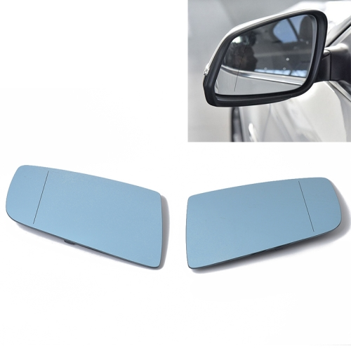 plate For BMW 3 Series 08-12 Right Driver Aspheric Blue wing mirror glass