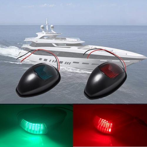 port//starboard Marine//Boat//Yacht LED Navigation Lights Black Housing