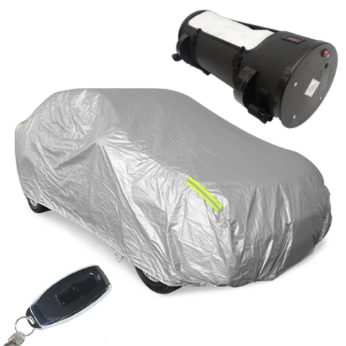 Sunscreen Insulated Rainproof Intelligent Automatic Remote Control Car Cover (Silver)