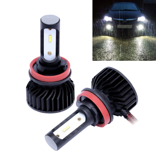 2 PCS P7 H11 DC9-36V 24W 6500K 3000LM IP68 Car LED Headlight Lamps / Fog Light (White Light)