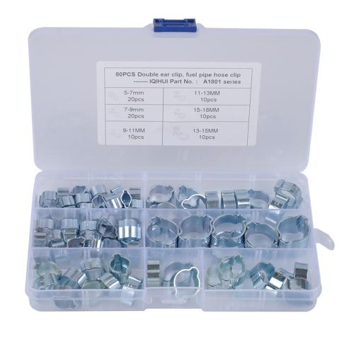 16-18mm Zinc Plated Mini Fuel Hose Line Pipe Clips x10