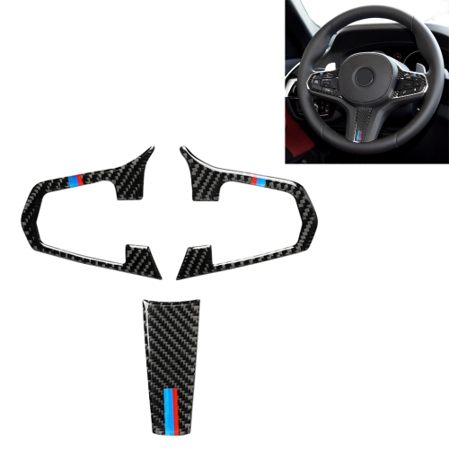 Panel de textura de carbono Volante Interruptor Botón Cubierta Para BMW 3 Series E90