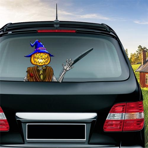 SUNSKY - Pumpkin Pattern Horror Series Car Rear Windshield