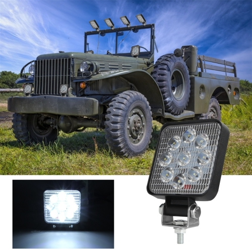 D0036 6.3W 10-30V DC 6000K 3 inch 9 LEDs Square Offroad Truck Car Driving Light Work Light Spotlight Fog Light