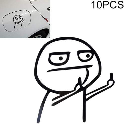 10 PCS Car Cartoon Personality Decorative Sticker (Black)