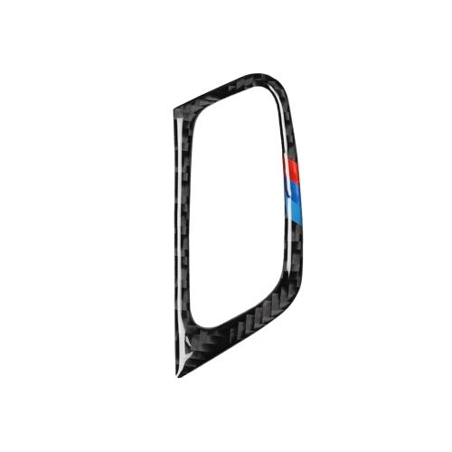 Car Carbon Fiber Tricolor Key Hole Decorative Sticker for BMW E70 X5 / E71 X6 2009-2013, Left Drive