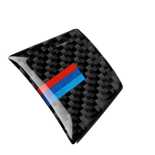 Car Carbon Fiber Tricolor Steering Wheel Decorative Sticker for BMW E70 X5 / E71 X6 2008-2013, Left and Right Drive Universal