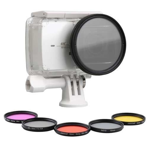 Buy 7 in 1 for Xiaomi Xiaoyi Yi II 4K Sport Action Camera Proffesional Lens Cap + 52 mm Lens Filter + CPL Filter + UV Filter + Red Filter + Yellow Filter + Purple Filter for $15.18 in SUNSKY store