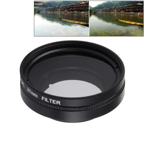 37mm Protective Lens Cap 37mm CPL Filter Circular Polarizer Lens Filter Adapater ring for Xiaomi Xiaoyi Yi II 4K Action Camera