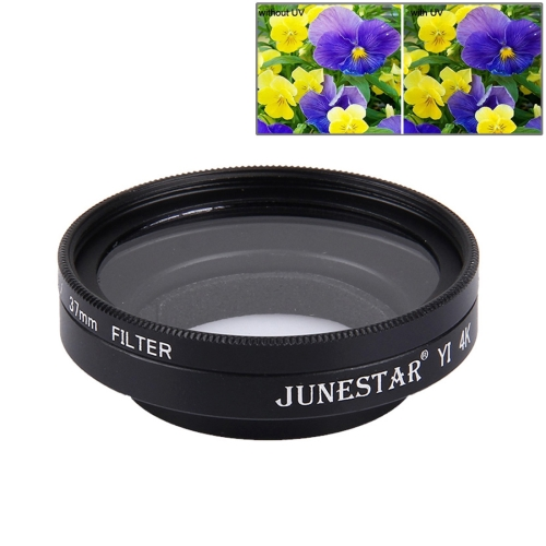 Buy JUNESTAR for Xiaomi Xiaoyi Yi II 4K Sport Action Camera Proffesional 37mm UV Filter + Lens Protective Cap for $4.73 in SUNSKY store