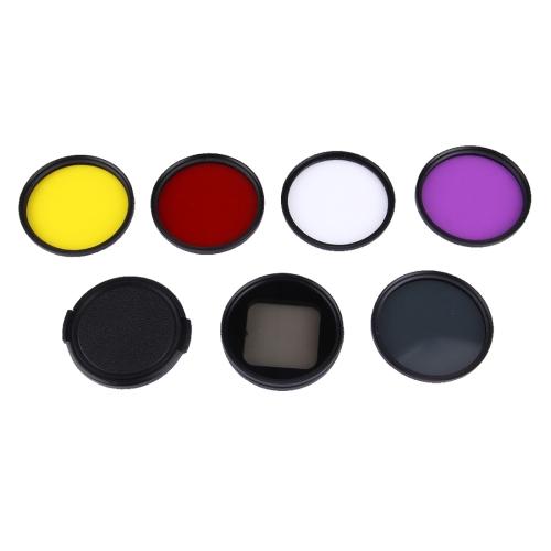 Buy 6 in 1 Proffesional 58mm Lens Filter (CPL + UV + Red + Yellow + Purple) & Waterproof Housing Case Adapter Ring for GoPro HERO4 / 3+ & Xiaomi Xiaoyi Yi II 4K & SJCAM SJ5000 Sport Action Camera for $15.63 in SUNSKY store