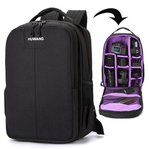 Buy HUWANG Multi-functional Waterproof Dual Shoulder Backpack Padded Shockproof Camera Case Bag, Purple for $21.83 in SUNSKY store