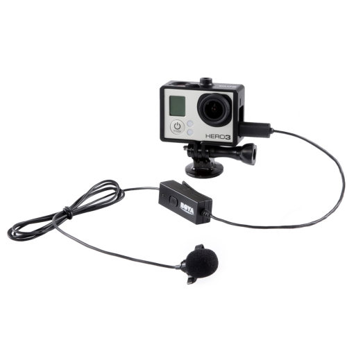 Buy BOYA BY-GM10 Micro 5 Pin Omni-directional Audio Lavalier Condenser Microphone with Tie Clip for GoPro HERO4 /3+ /3, Black for $14.18 in SUNSKY store