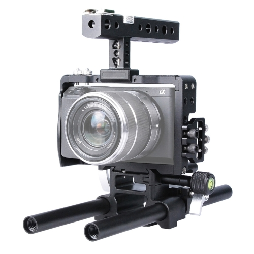 Buy YELANGU YLG0905A Camera Video Cage Handle Stabilizer for Sony A6000/A6300/A6500, Black for $94.02 in SUNSKY store