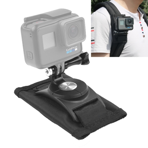 360 Degree Rotating Quick Release Strap Mount Shoulder Backpack Mount for GoPro HERO7 /6 /5 /5 Session /4 Session /4 /3+ /3 /2 /1, and Other Action Cameras(Black)