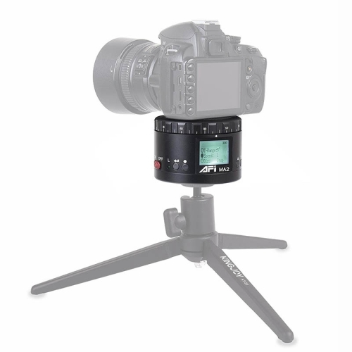 MA2 360 Degree Rotation Delayed Star Photography LCD Camera Mount for SLR & Digital Cameras with Time-lapse Photography (Black)